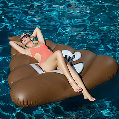 "Price comparison product image Inflatable Pool Float Lounger Giant Shit/ Stool Fun Toy, 59"" X 65"" by MY'S"