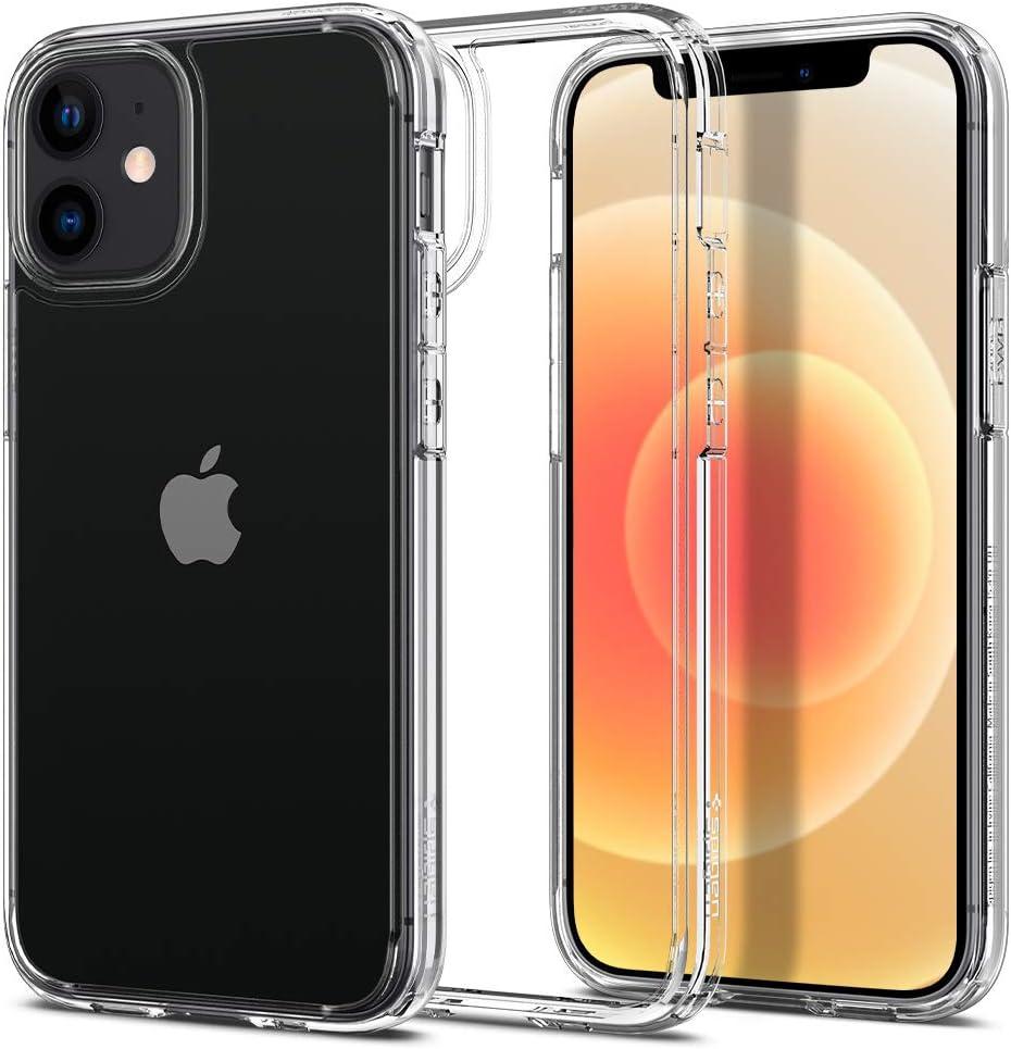 funda para iphone 12 mini Spigen Ultra Hybrid Crystal Clear