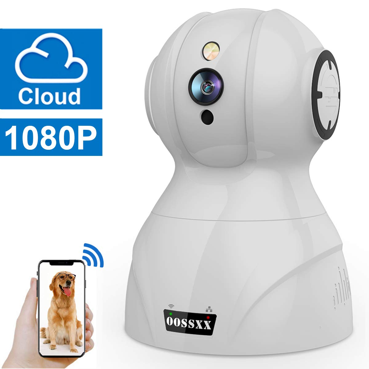 Wireless 1080P Security Surveillance Camera,HD Home Indoor IP Camera with Two-Way Audio PTZ for Baby Elder Pet Monitor