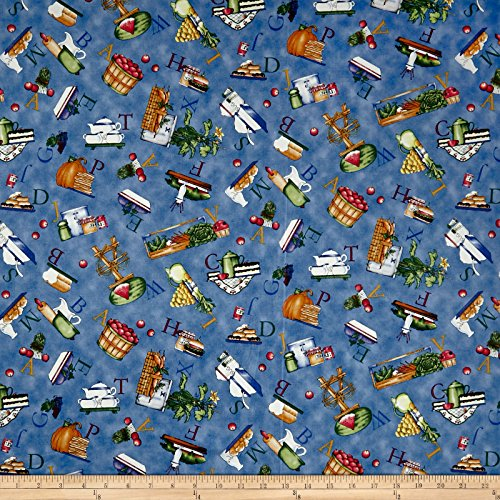 - QT Fabrics Hungry Animal Alpha Food Toss Yard, Blue