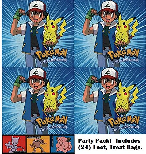 Pokemon party favor bags (24 count). Great for loot bags, treat bags, birthday parties]()