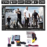 Eachbid 7Inch Double 2DIN Car MP5 MP3 Player Bluetooth Touch Screen Car Stereo Radio HD With Camera