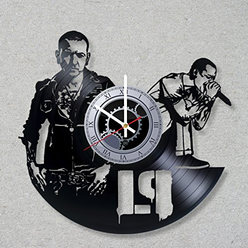Bennington Clock (Vinyl Record Wall Clock Linkin Hybrid Theory Park Music Rock Bennington Numb Chester decor unique gift ideas for friends him her boys girls World Art Design)