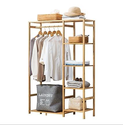 Percheros Soporte para piso Colgante para estante Revestimiento para rack  Estante Dormitorio Colgador Balcón del piso 26ccf8e90b6