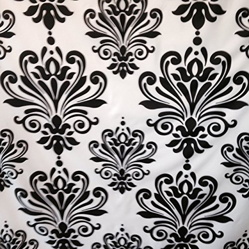black white damask shower curtain - 9