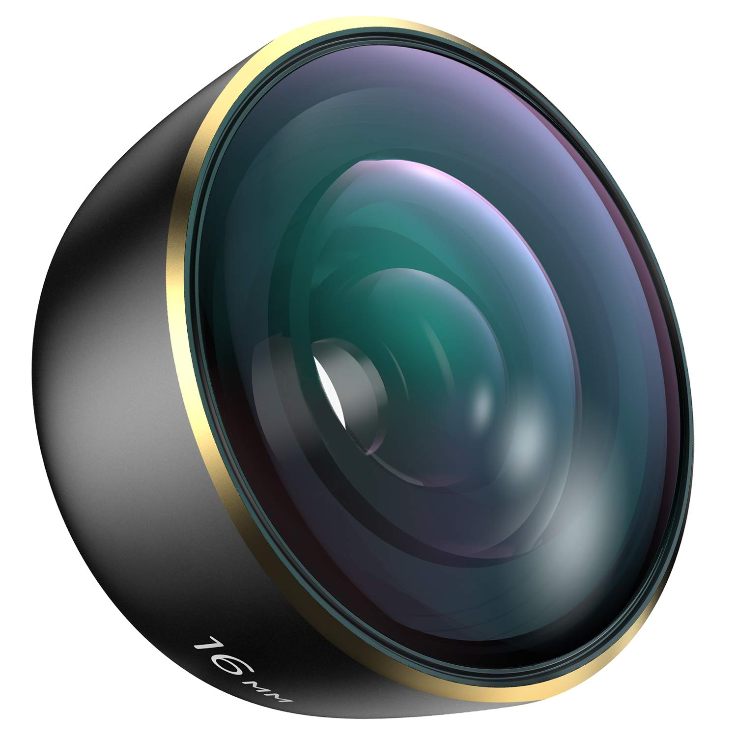 Wide Phone Camera Lens for iPhone - Samsung Galaxy and Pixel, Rovtop More Professional HD 16 mm Wide Angle Lens Kit with Travel Case