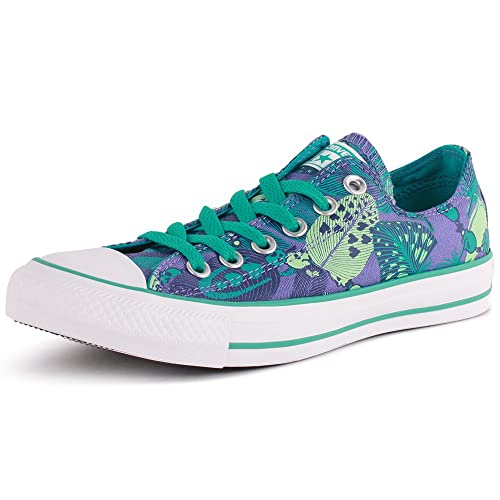 3142ca925b67 Converse Chuck Taylor All Star Feather Skull Ox Womens Canvas Trainers Blue  - 4 UK  Amazon.co.uk  Shoes   Bags