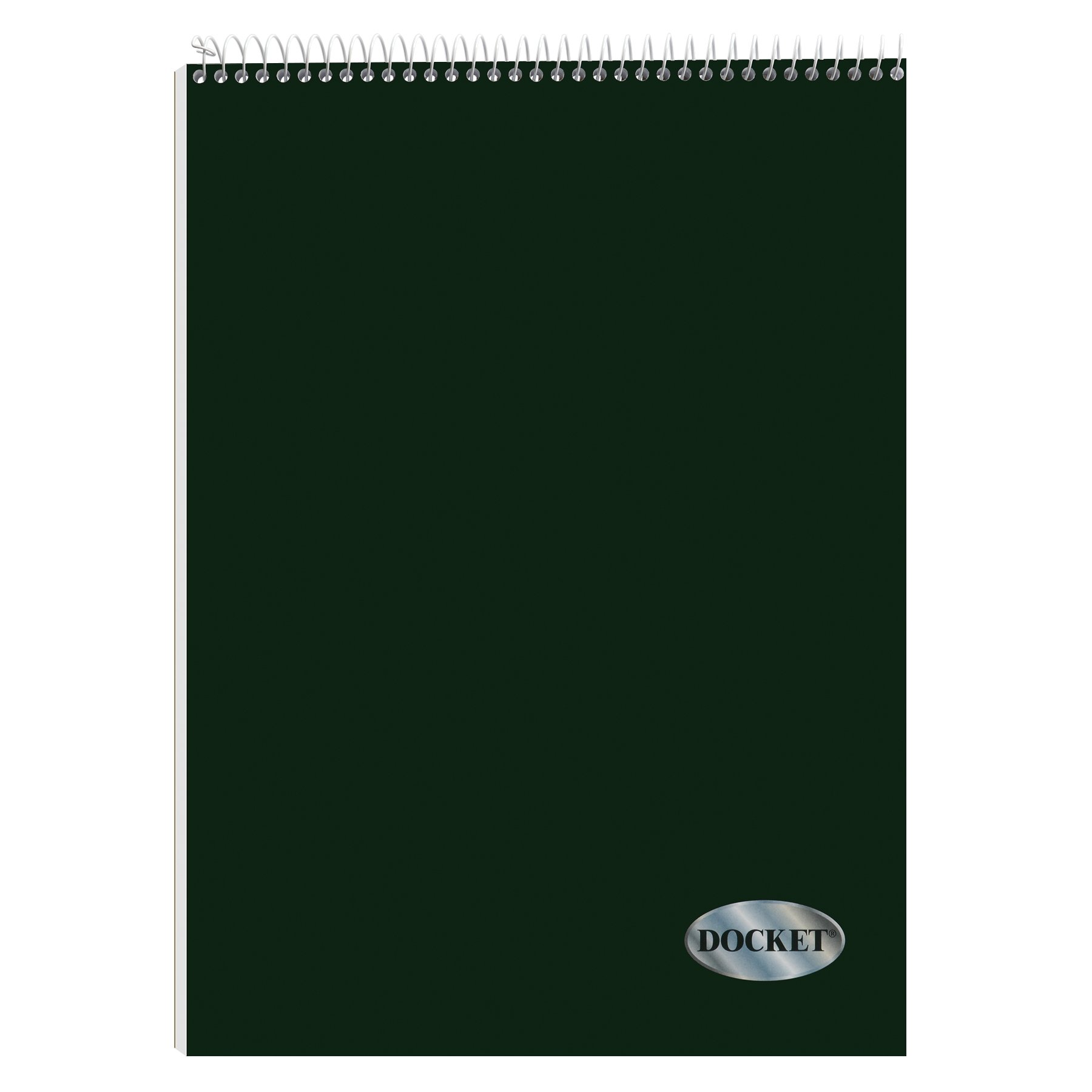 TOPS Docket Quadrille Pad, Wire Bound, 8-1/2 x 11-3/4 Inches, Quad Rule (4 x 4), White Paper, Black Covers, 70 Sheets per Pad (63801)