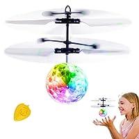 IGOGO Flying Ball Enfant, Hélicoptère Ballon coloré Intégré la Musique Disco avec Shinning LED pour Les Enfants Adolescents