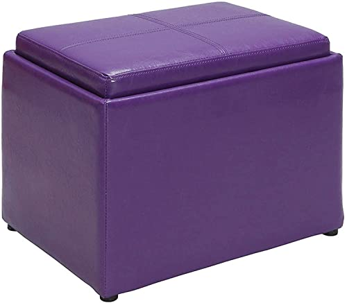 Convenience Concepts Designs4Comfort Accent Storage Ottoman, Purple