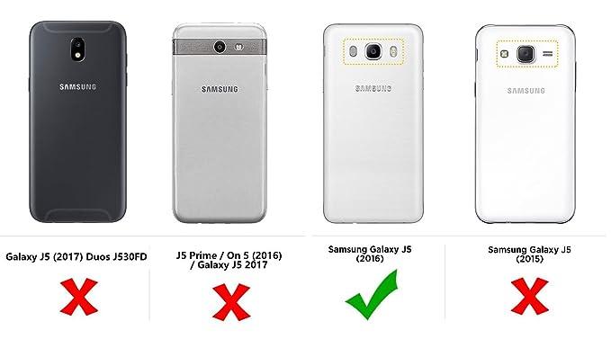 Funda Samsung Galaxy J5 (2016), MULBESS Funda Piel PU, Soporte ...