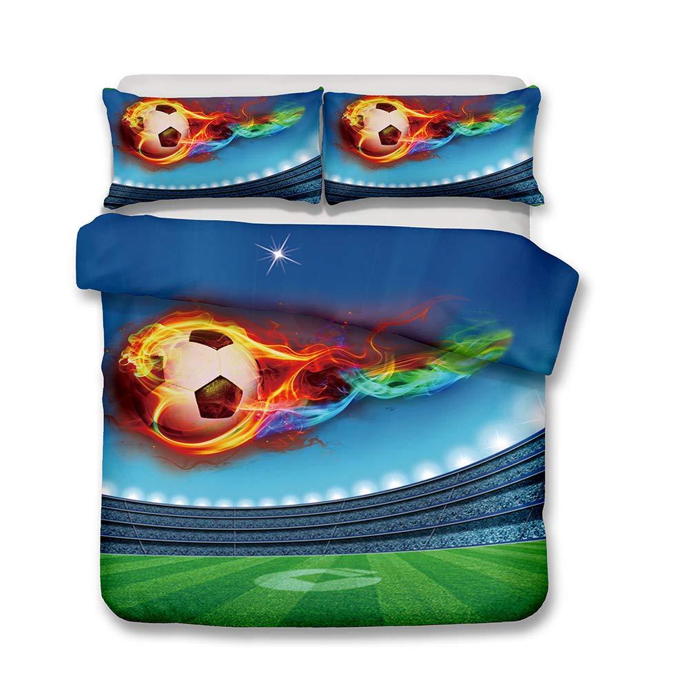 Hllhpc para 3D Fútbol Fútbol Ropa de Cama Textiles para el hogar ...