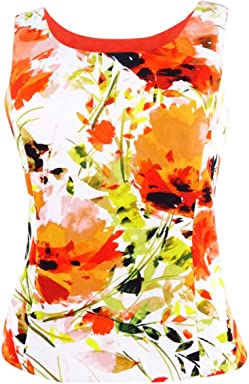Kasper Womens Scuba Floral Blouse
