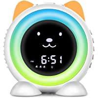 Time-to-Wake Alarm Clock, Children's Sleep Trainer ,Kids Seep Soother with 17 Ambient Sounds ,Night Light & Auto-Off…