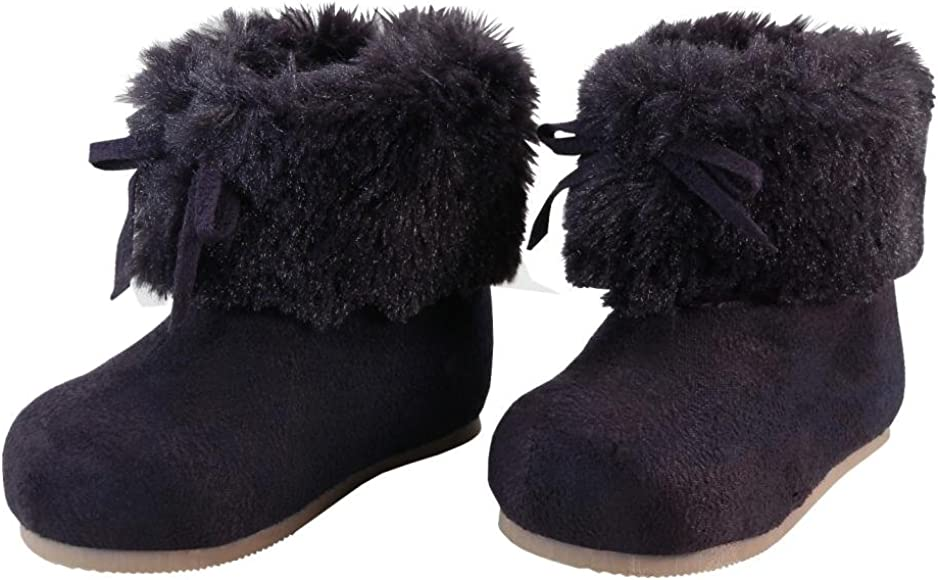 Toddler Faux Fur Cuff Winter Boots
