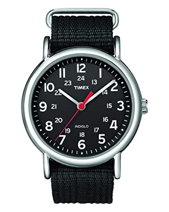 Buy Timex Weekender Indiglo Analog Black Dial Unisex Watch - T2N647 Online  at Low Prices in India - Amazon.in fd80b333e