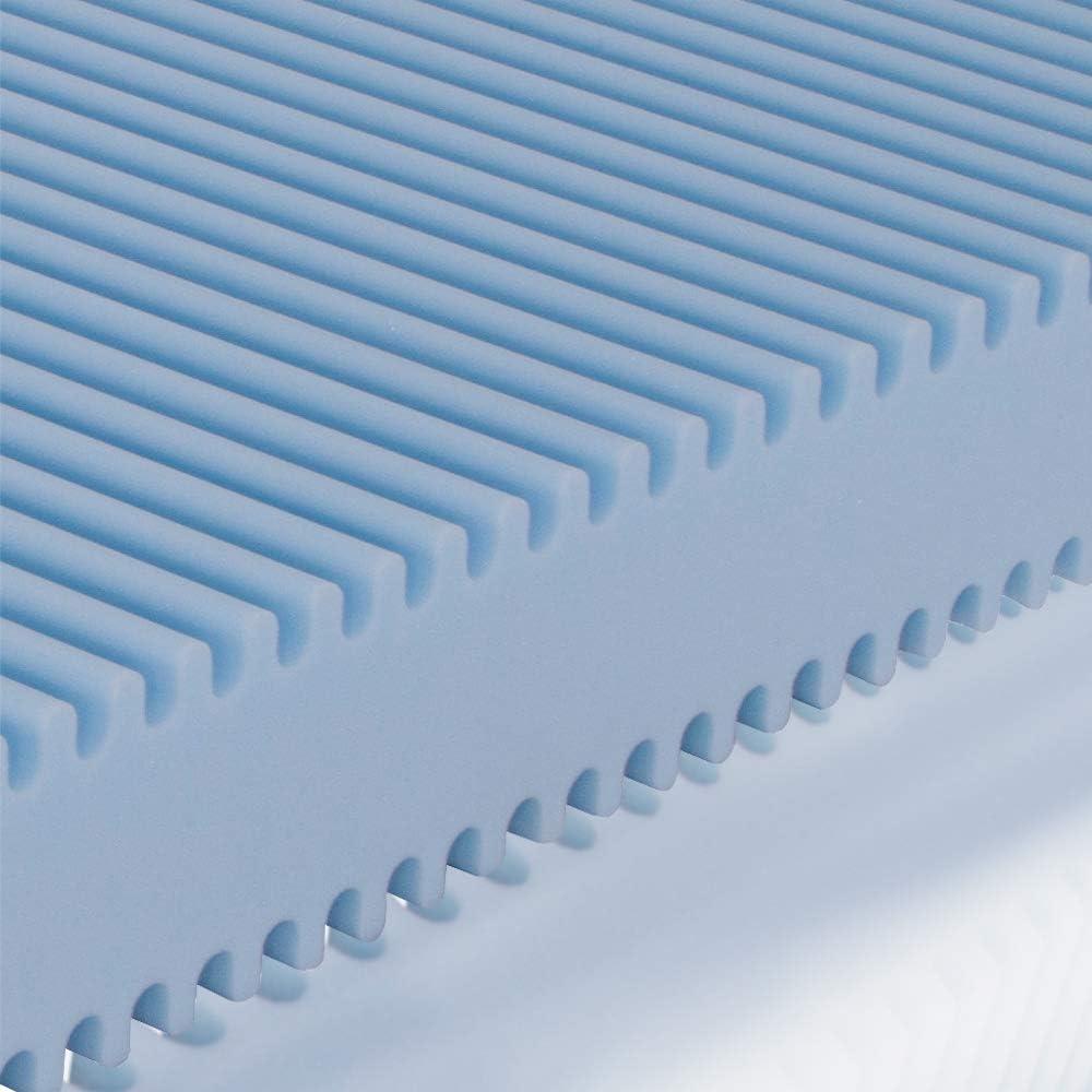 Poliuretano 80 x 190 cm Color Blanco Colch/ón para Cama Ailime Waterfoam H16