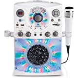 Singing Machine SML385UW Bluetooth Karaoke System with LED Disco Lights, CD+G, USB, and Microphone, White