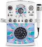 Singing Machine SML385UW Bluetooth Karaoke System with LED Disco Lights, CD+G,