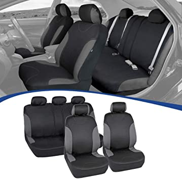 Amazon Com Bdk Neofab Seat Saver Series Car Seat Covers For Automotive Interior Protection Polyester Cloth 9 Piece Kit Automotive