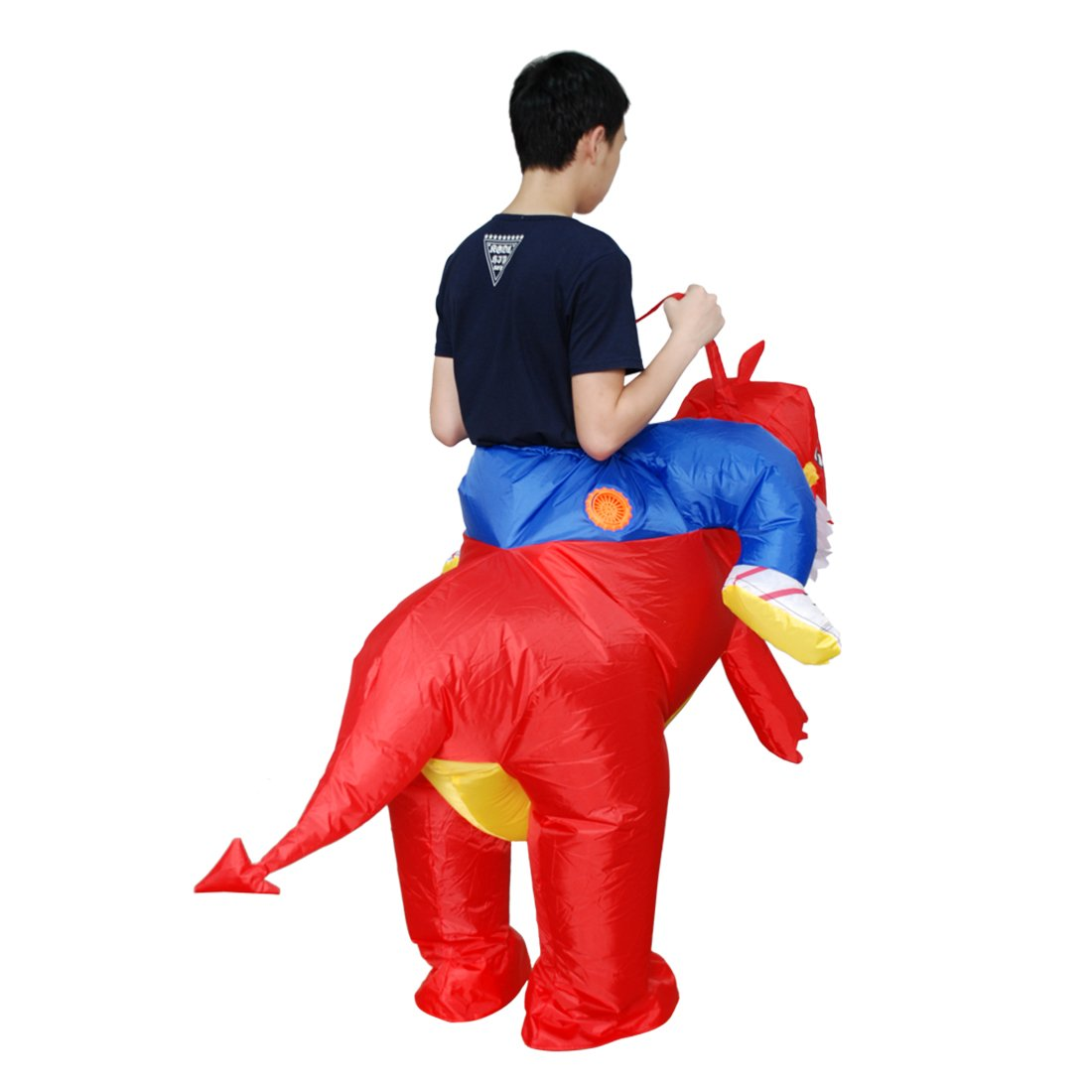 Kooy Inflatable Dinosaur Unicorn Cowboy Costume Halloween Costume Inflatable Costumes for Adults (red Dinosaur) by Kooy (Image #3)
