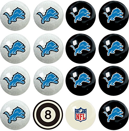 Detroit Lions Professional Football - Imperial Officially Licensed NFL Merchandise: Home vs. Away Billiard/Pool Balls, Complete 16 Ball Set, Detroit Lions