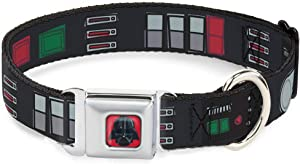 Buckle-Down Dog Collar Seatbelt Buckle Star Wars Darth Vader Utility Belt Bounding3 Black Grays Reds Available in Adjustable Sizes for Small Medium Large Dogs