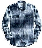 Goodthreads Men's Standard-Fit Long-Sleeve Gingham Twill Shirt, Navy Eclipse, X-Large