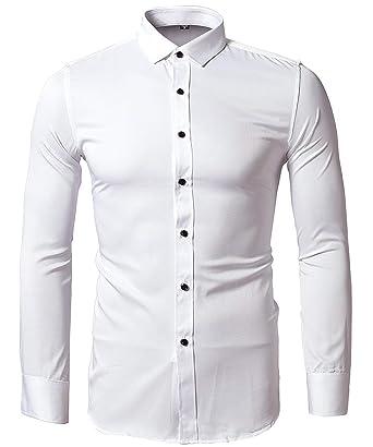Camisa Bambú Fibra Hombre, Manga Larga, Slim Fit, Camisa Elástica ...