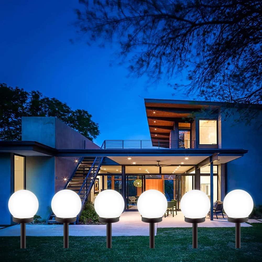 Gloriy LED Solar Garden Light Decorative,8 Pack Solar Lights Outdoor,Solar Globe Light Waterproof Outdoor Landscape Path Light White Light…