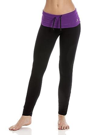 CAMILLE Ex Decathlon Legging Long froncé Femme Taille Violette - Noir: Amazon.fr: Vêtements et accessoires