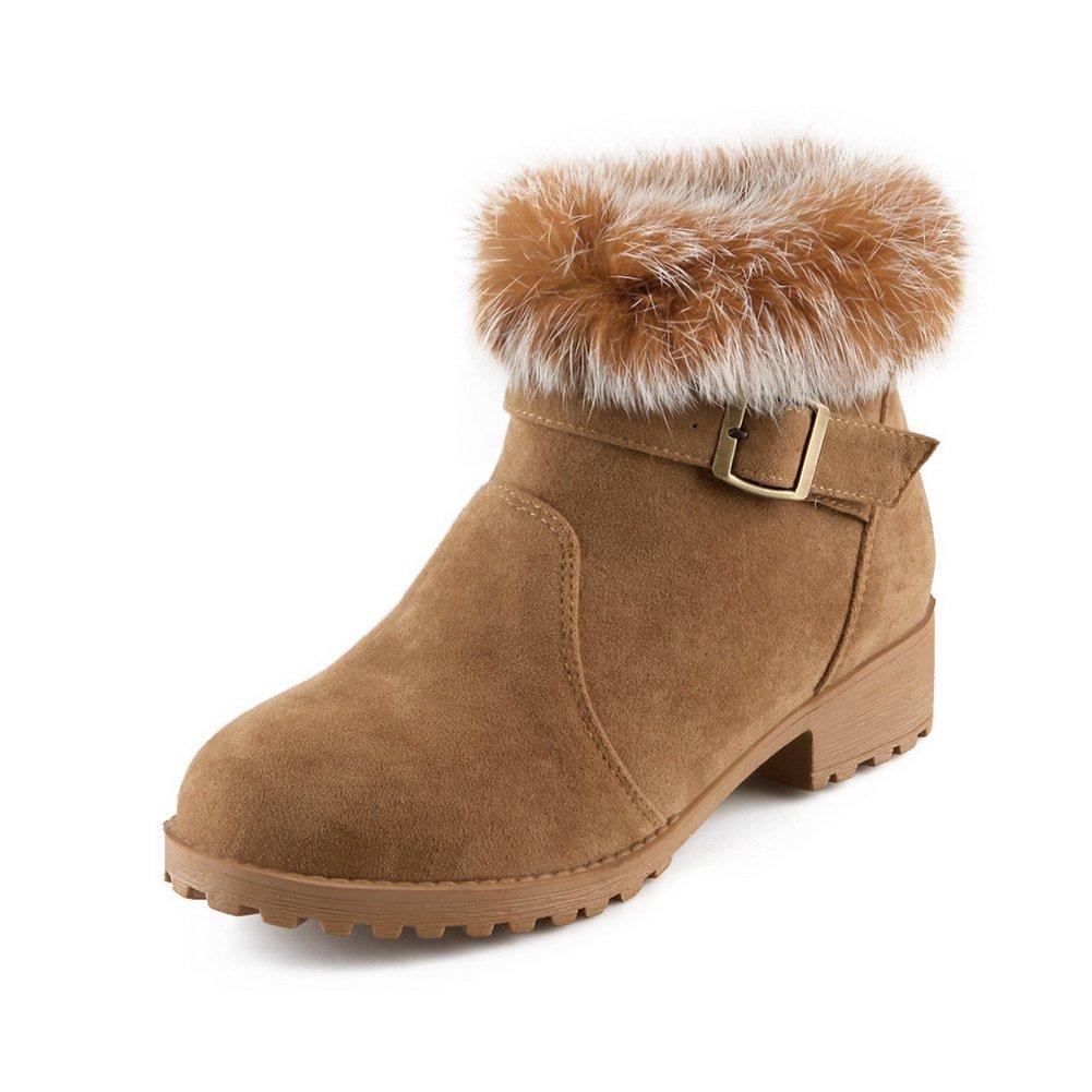 1TO9 - Botas de nieve mujer35.5 EU|marrón claro