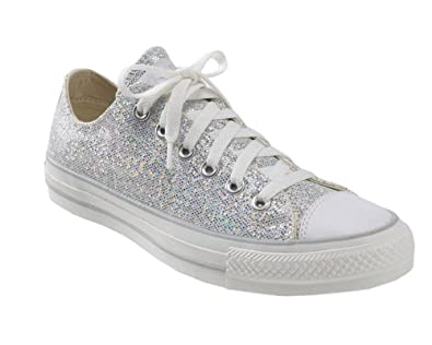 CONVERSE - Silver lace-up Sneakers made of sequinchildgirlgirls