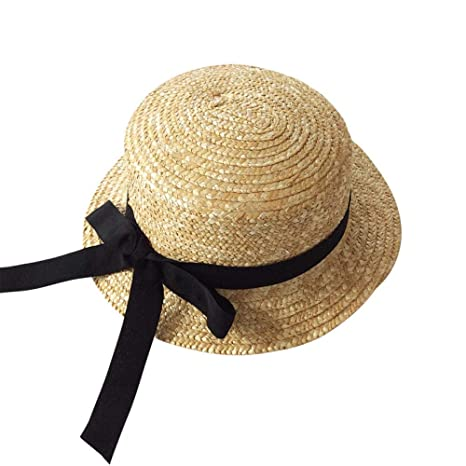 love+djl Gorra De Bebe Girls Sun Cap Black Ribbon Decorate ...