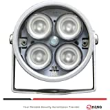 JC 4pcs High Power LED IR Array Illuminator IR Lamp Wide Angle for Night Vision CCTV and IP Camera