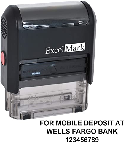 Amazon ExcelMark For Mobile Deposit At Custom Rubber Stamp