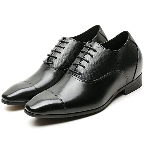 21c4173a43d69 CHAMARIPA Leather Elevator Shoes for Men, 2.95