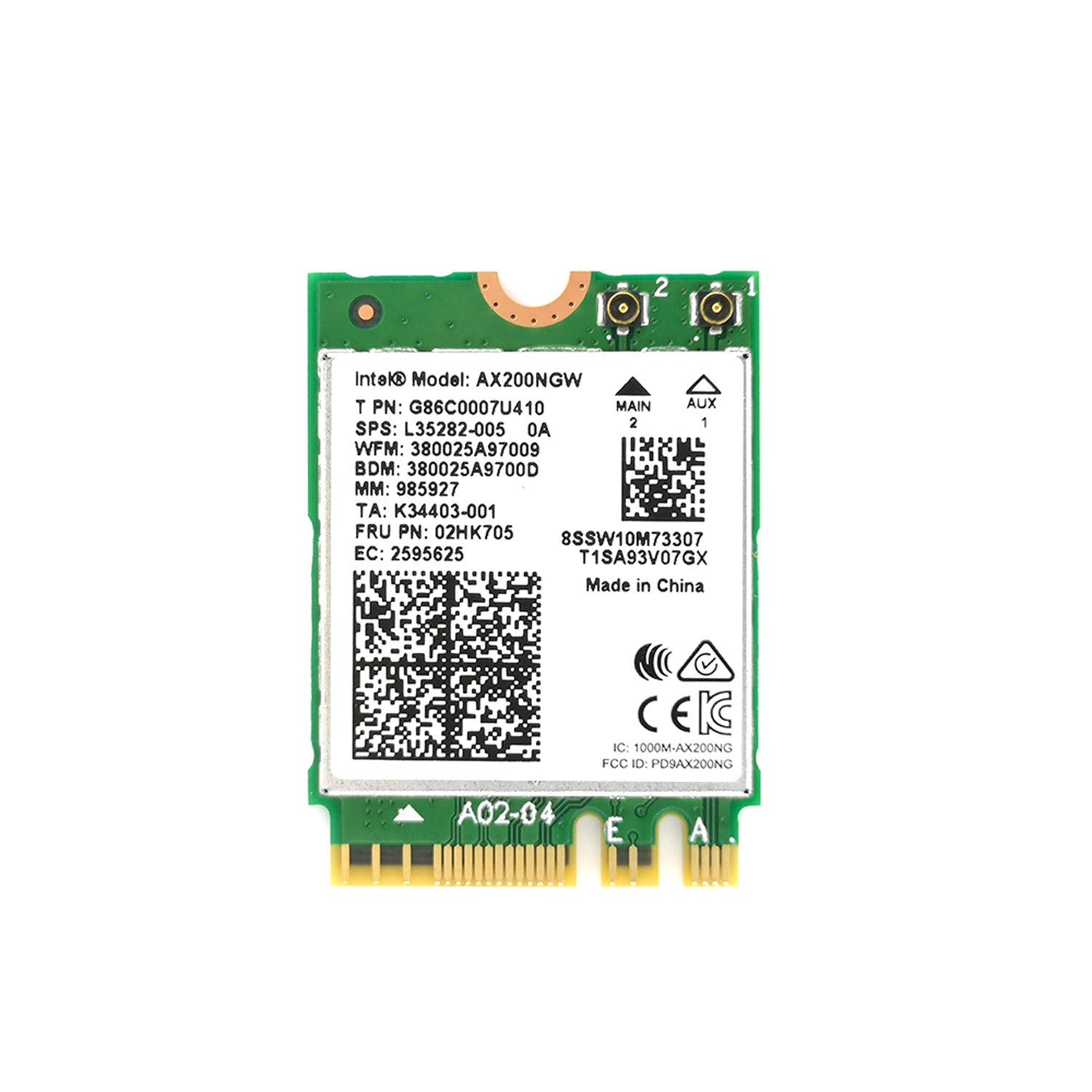 Wi-Fi 6 11AX WiFi Module Intel AX200NGW 2 x 2 MU-MIMO Wireless Card with Bluetooth 5.0 Support Windows 10 64bit/ Google Chrome OS/Linux Gigabit and Low Latency Built for Gaming, M.2/NGFF ... by UFON
