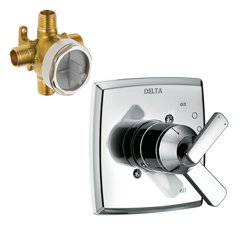 Delta K17064-R-CH-2 Ashlyn Monitor Valve Only with Rough, Chrome delicate
