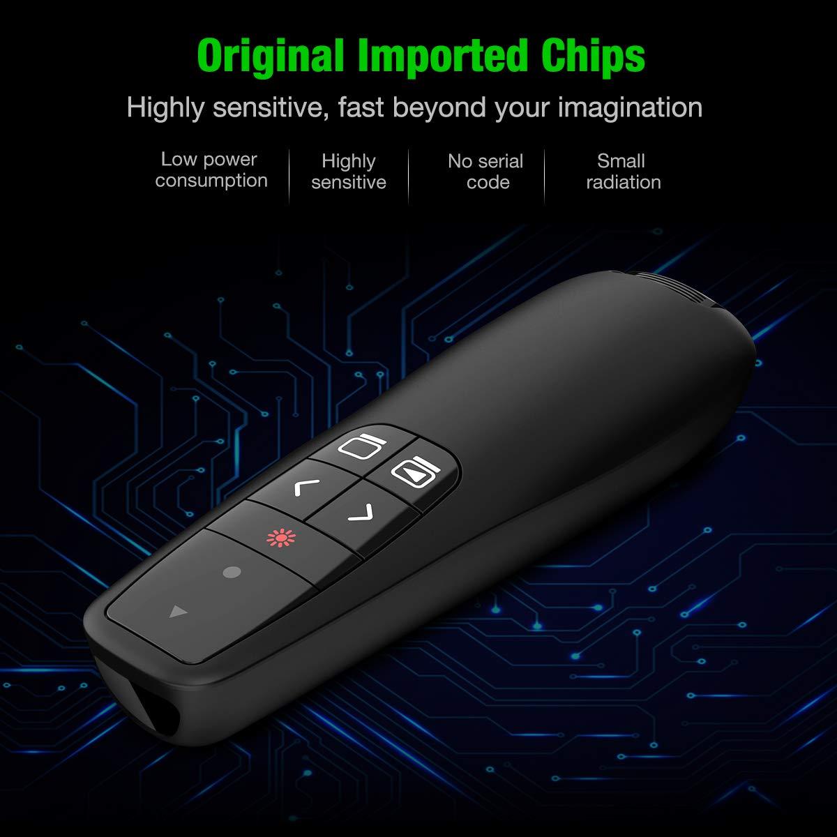 nuova versione Beboncool ricaricabile 2.4 GHz PowerPoint clicker Presentazione clicker