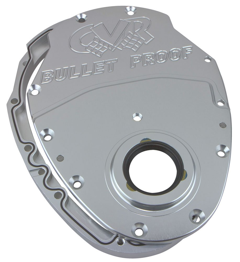 CVR Performance TC2350CL Clear Anodized Billet Timing Cover - 2 Piece