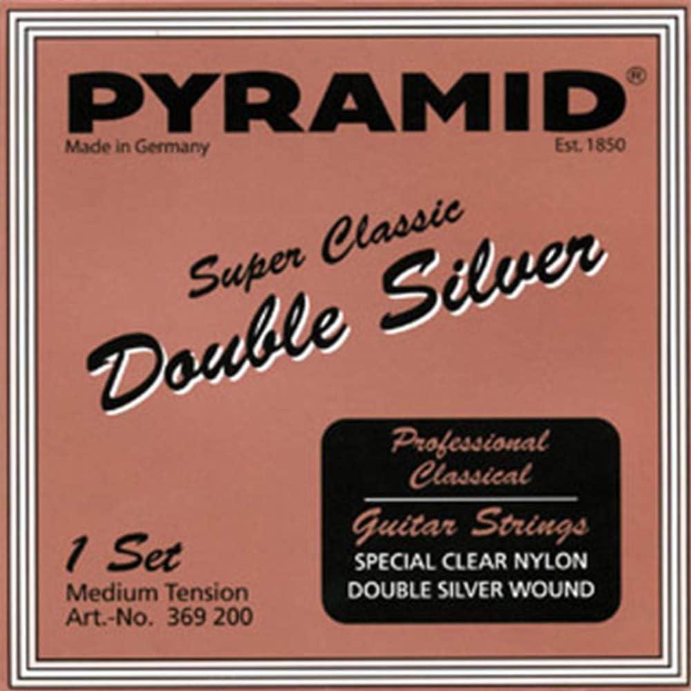 Pyramid Super Classic - Cuerdas para guitarra acústica (nailon), color plateado