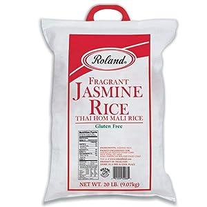 Roland Foods Fragrant Jasmine Rice from Thailand, 20 Lb Bag