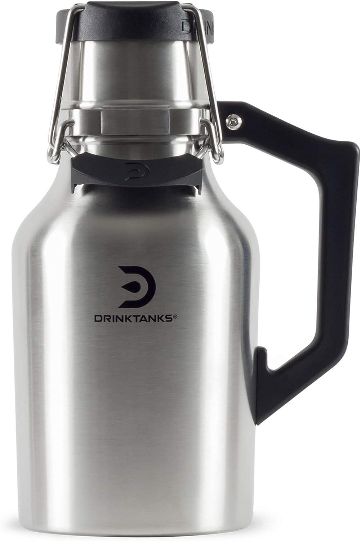 NEW DrinkTanks 32 oz Vacuum Insulated Stainless Steel Beer Growler