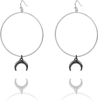 Pomina Metal Beaded Hoop with Coin Charms Drop Earrings