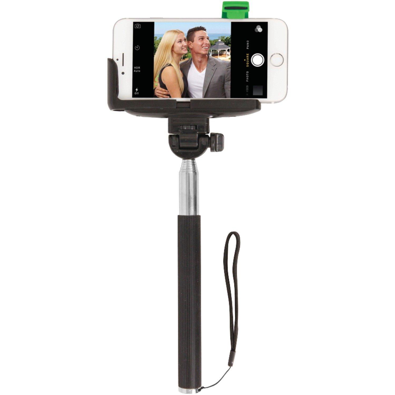 ReTrak Selfie Stick with Bluetooth Shutter for iPhone 4/5/5s/6/6s & Samsung Galaxy S III/4 - Black Petra Industries Inc. - Consumer Electronics Replen ETSELFIEB