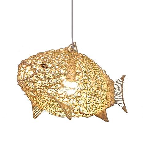 Nórdico ajustable simple Rattan Pendiente de la lámpara de ...