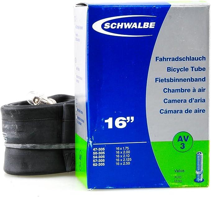 Schwalbe Schlauch Av 3 16 Zoll 16x1 75 2 50 47 62 305 Av40mm Sport Freizeit