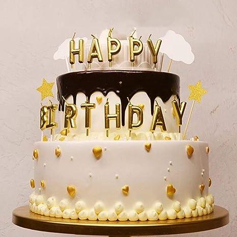 Amazon.com: Happy vela de cumpleaños para niños y adultos ...