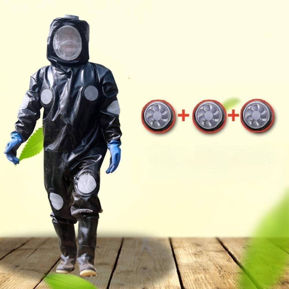 蜂防護服 ビー服専門の初級養蜂家のスーパー通気性のスモックグローブフェイスステンレスメッシュワンピースラバーシューズArenumerous通気孔 スズメバチ防護服 養蜂用 作業服 SHANCL (Size : 170-185m)